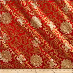Chinese Brocade Traditional Print Red Gold