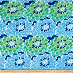 Fleece Prints Garden Florals Blue