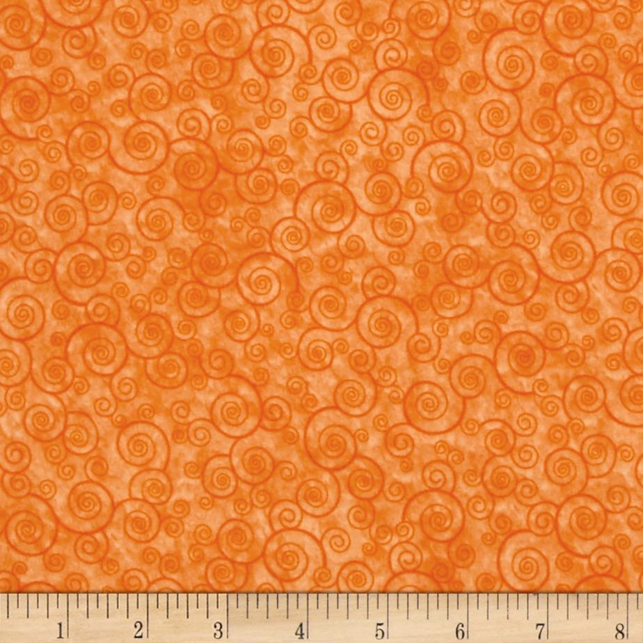 Harmony Flannel Curly Scroll Tangerine