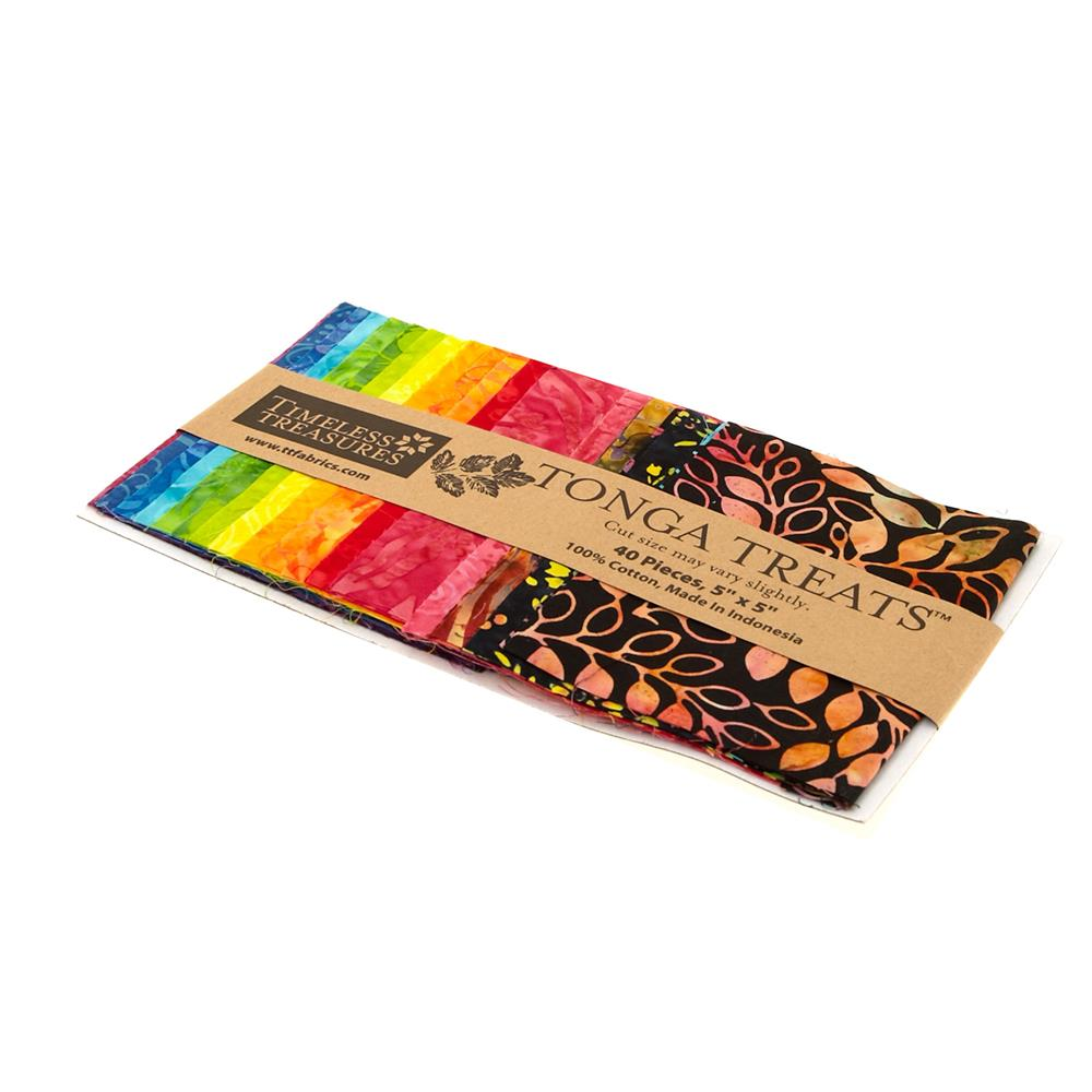"Timeless Treasures Tonga Batik Treats Rainbow 5"" Mini Squares"