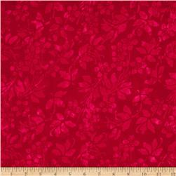 Moda Joy Batiks Cranberry Bush Tonal Poinsettia Red