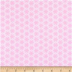 Riley Blake Wildflower Meadow Flannel Flower Pink Fabric