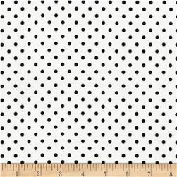 Timeless Treasures Polka Dots White
