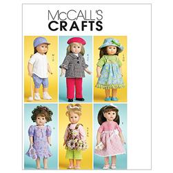 "McCall's Doll Clothes For 18"" (46cm) Doll Pattern M6137 Size OSZ"