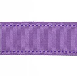 "May Arts 1 1/2"" Grosgrain Stitched Edge Ribbon Spool Lavender/Purple"