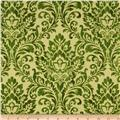 Holiday Elegance Metallic Brocade Green