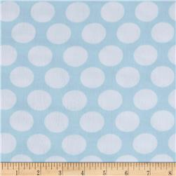 Kaufman Little Prints Double Gauze Dot Sky/White