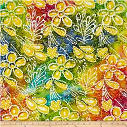 Indian Batik Caledonia Garden Large Floral Pastle Multi