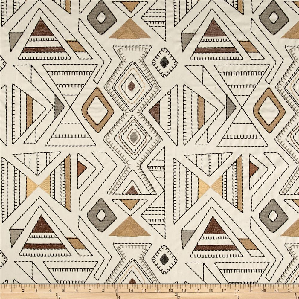 Richloom Barista Embroidered Wheat
