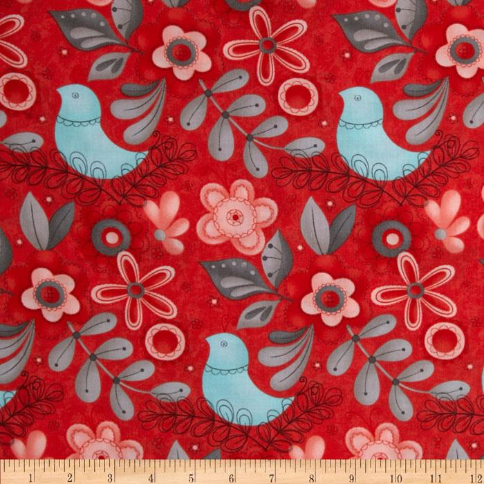 Moda Flirt Large Floral Rose Red