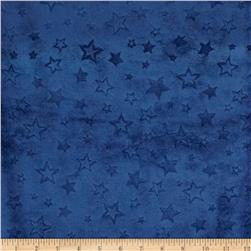 Minky Embossed Star Cuddle Midnight