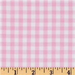Woven 1/4'' Gingham Pink