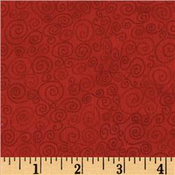 Cuddle Flannel Swirls Red