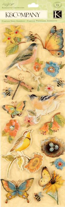 Susan Winget Nature Icons Adhesive Chipboard 19/pcs