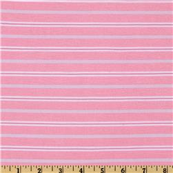Yarn Dyed Jersey Knit Stripe Pink
