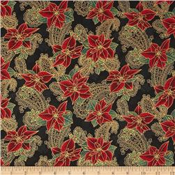 Pear Tree Greetings Metallic Paisleys Black/Gold