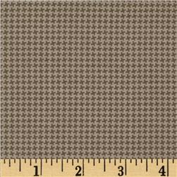 Silly Gilly & Friends Houndstooth Grey Fabric