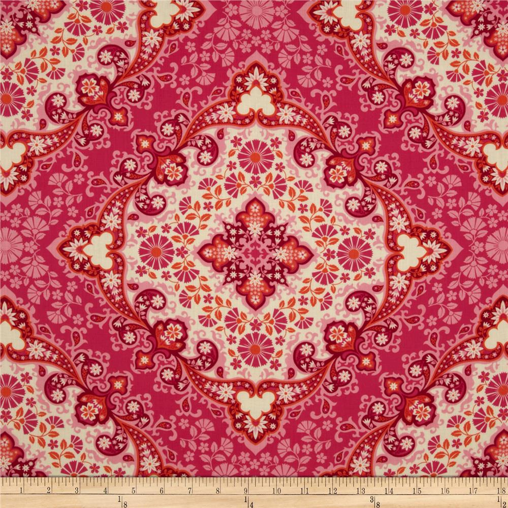 Joel Dewberry Notting Hill Cotton Voile Kaleidoscope Magenta