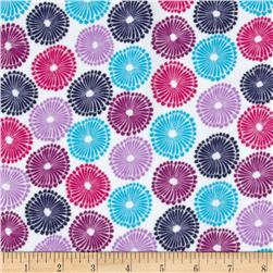 Punch Garden Flannel Mod Circles Bright Purple