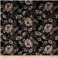 Techno Scuba Knit Floral Black/Grey