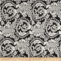 Flourish Jacquard Knit Black/White Fabric