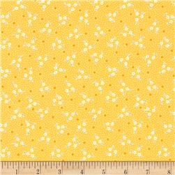 Robert Kaufman Pretty Posies Scattered Small Flower Yellow