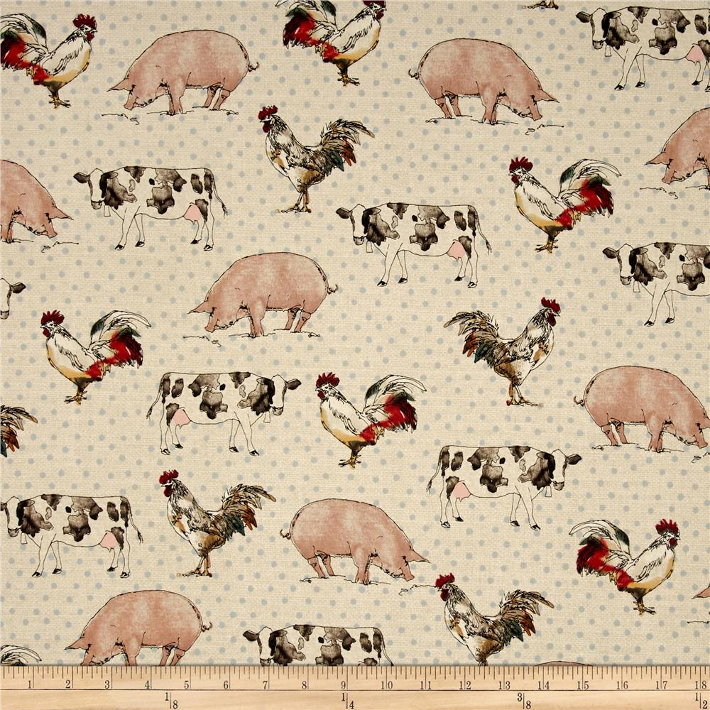 Farm Animal Kitchen Decor Animals Down On The Farm Discount Designer Fabric Fabriccom