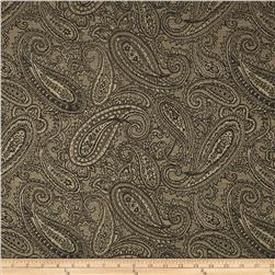 Duralee Paisley Jacquard Charcoal Fabric