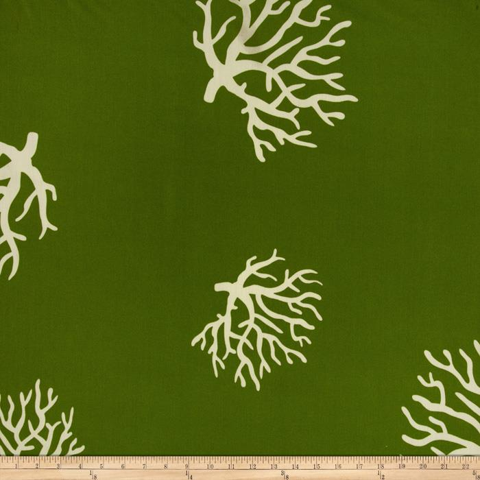 Premier Prints Indoor/Outdoor Coral Greenage
