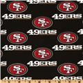 NFL Cotton Broadcloth San Francisco 49ers Black/Red