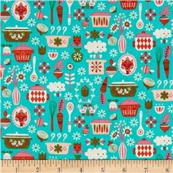 Riley Blake Kitchen Main Teal