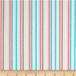 Riley Blake Girl Crazy Flannel Stripe Blue