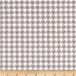 Minky Cuddle Houndstooth Silver/Snow