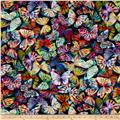 Mystic Meadow Digital Print Packed Butterflies Rainbow
