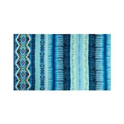 Chiffon Tribal Diamond Wave Light Blue