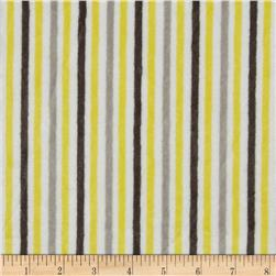 Minky Cuddle Classic Mini Stripe Lemon/Silver