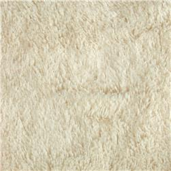Minky Shaggy Cuddle Ivory Fabric