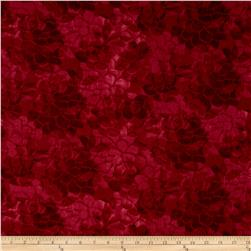 "108"" Wide Charisse Quilt Back Tonal Floral Red"