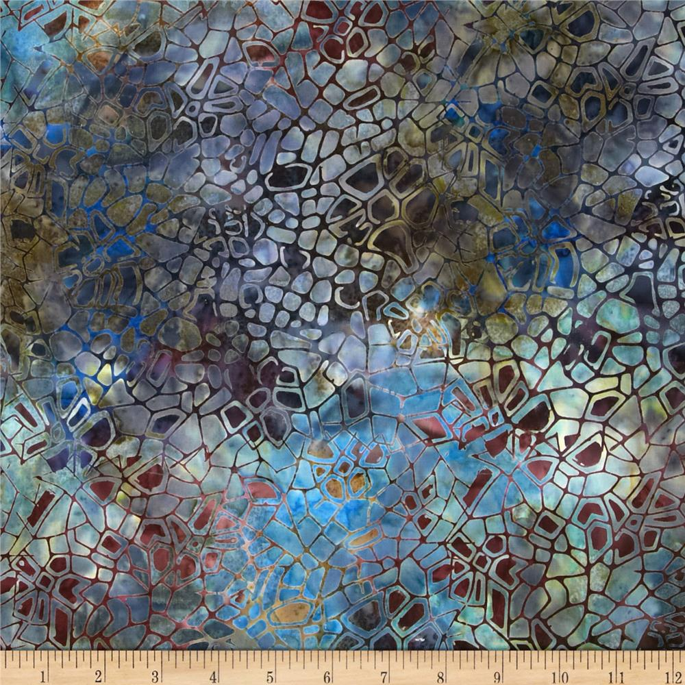 Batavian Batiks Crackle Steel/Sage