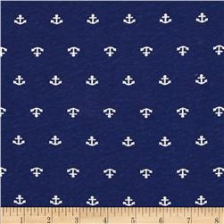Nautical Collection Jersey Knit Anchor Navy/White
