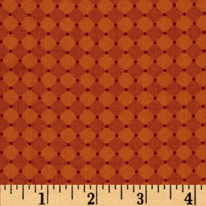 Mary Engelbreit Flutterby Harlequin & Dot Burnt Orange