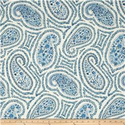 Waverly Paisley Proposal Twill Porcelain