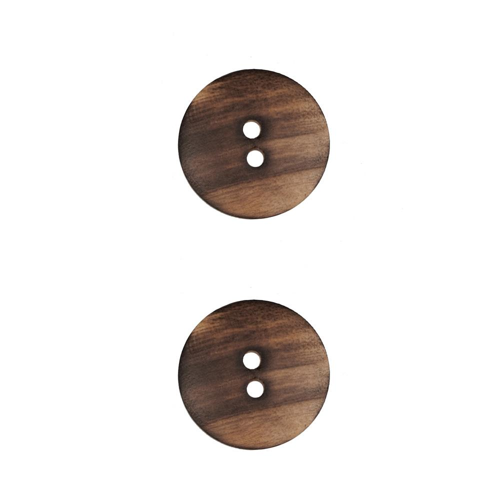 Wood Button 3/4'' Iroquois Natural