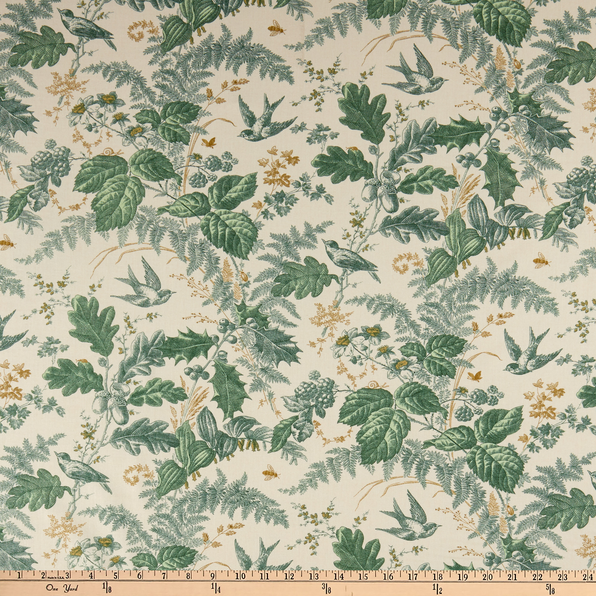 Andover Evergreen Toile Sage