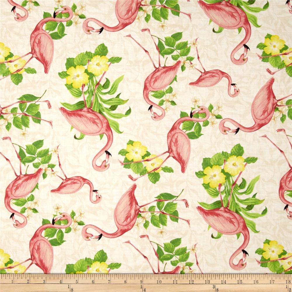 Seaside Wonders Flamingos Cream