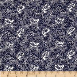 Dear Stella Emerson Filigree Navy Fabric