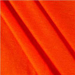 Rayon Spandex Jersey Knit Solid Orange