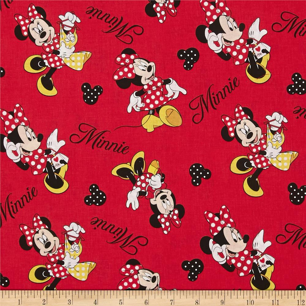 Disney Minnie Mouse Loves to Shop Tossed Minnie Red