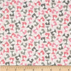 Robert Kaufman Urban Zoology Mini Flannel Foxes Baby Pink