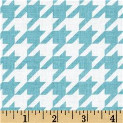 Riley Blake Medium Houndstooth Aqua Fabric